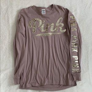 VS Pink Sequin Long Sleeve